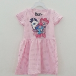 Pony : เดรสสกรีนลายม้าโพนี่ สีชมพูลายจุด size : 1-2y