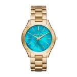 นาฬิกาข้อมือ Michael Kors MK3492 MICHAEL KORS Watch,Slim Runway Gold-Tone 3 Hand Watch