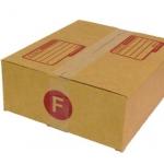 กล่องไปรษณีย์ฝาชนเบอร์ F ขนาด 31 X 36 X 13 cm. ใบละ 9 บาท