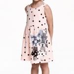 H&M : เดรสสีชมพู ลายจุด สกรีนรูปแมวเหมียว (งานช้อป) size : 1-2y / 8-10y / 10-12y / 12-14y