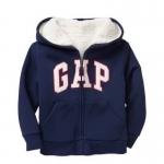 Gap : Jacket มีฮูด ซิปหน้า ด้านในบุขนหนานุ่ม สีกรม size : 12-18m / 18-24m / 2T / 4T