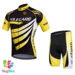 ชุดจักรยานแขนสั้น Volegarb 16 (17) สีดำเหลือง