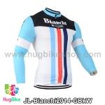 เสื้อจักรยานแขนยาวทีม Bianchi 14 สีเขียวดำขาว สั่งจอง (Pre-order)