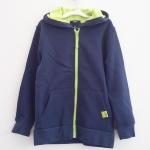 Gap Kids : แจ็คเก็ทกันหนาวมีฮูด สีกรมซิปเขียว size : S (6-7y)