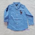 เสื้อเชิ๊ต POLO สีฟ้า size : 6 / 7