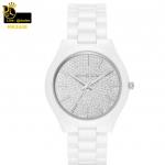 นาฬิกาข้อมือ Michael Kors MK3448 Michael Kors Slim Runway Crystal Pave Dial Ceramic Ladies Watch