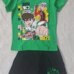 Set เสื้อ+กางเกงขาสั้น Ben10 สีเขียว size : M ( 4-5y) / XL ( 8-9y)