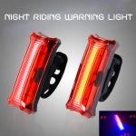 ไฟท้ายจักรยาน 3 สีสลับกัน NIGHT RIDING ชาร์ต USB
