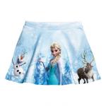 H&M : กระโปรงพิมพ์ลาย Frozen สีฟ้า (งานช้อป) size : 1.5-2y / 12-14y