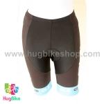 กางเกงจักรยานผู้หญิงขาสั้น ALE 16 (01) สีดำขาวฟ้า