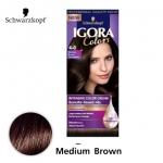 Schwarzkopf IGORA Colors อีโกร่า อินเทนซีฟ คัลเลอร์ ครีม 4-0 Medium Brown น้ำตาลกลาง