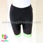 กางเกงจักรยานผู้หญิงขาสั้น ALE 16 (08) สีดำขาวเขียว