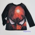 H&M : เสื้อแขนยาว สกรีนลาย Spiderman สีดำ size : 1-2y / 10-12y