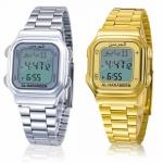 นาฬิกาข้อมือ azan สำหรับละหมาด สีเงิน-ทอง ส่งฟรี