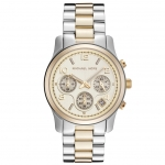 นาฬิกาข้อมือ Michael Kors MK5137 Women's Runway Two Tone Chronograph Watch Size 38 mm