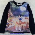 H&M : เสื่้อยืดแขนยาว (งานช้อป) ลาย Disney สีกรม Size : 6-8y