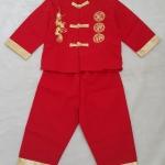 set เสื้อแขนยาว+กางเกงขายาว สีแดง size : 1 ( 1-2y ) / 4 (3-4y)