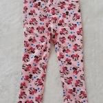 H&M : กางเกงขายาว สีชมพู ลายมินนี่เมาส์ โบว์สีชมพู size : 2 / 4 / 6 / 8