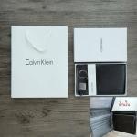 กระเป๋าสตางค์ใบสั้น Calvin Klein Leather Bookfold with Key Fob Set