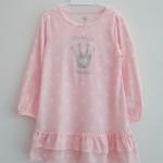 Carter's : ชุดนอน ผ้า cotton ยืดแขนยาว สีชมพูอ่อน Size : 18m