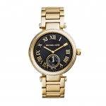 นาฬิกาข้อมือ Michael Kors MK5989 Michael Kors Skylar Black Dial Gold-tone Ladies Watch MK5989