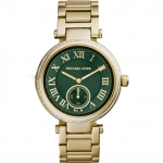 นาฬิกาข้อมือ Michael Kors MK6065 Michael Kors Skylar Emerald Green Dial Gold-tone Ladies Watch