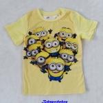 H&M : เสื้อยืด สีเหลือง สกรีนลายมินเนียน size 1.5-2y / 12-14y