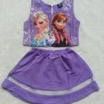 Gap Kids : Set เสื้อ + กระโปรง พิมพ์ลาย Frozen สีม่วง Size : 1 / 8 / 9 / 10 / 11 / 12 / 14