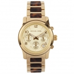 นาฬิกาข้อมือ Michael Kors MK5659 Runway Chronograph Gold-Tone Ladies Watch Size 38 mm