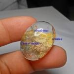แก้วสามกษัตริย์ น้ำงาม ใส A++ เข้าแก้วทอง+กาบ+ปวก ใสสวย ขนาด 2.8*2.2cm ทำ จี้ สวยๆ