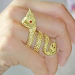 แหวนพญานาคทองเหลือง เสริมราศรี คุ้มภัย