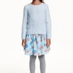 H&M : กระโปรงพิมพ์ลาย เจ้าหญิง เอลซ่า สีฟ้า Size : 1-2y / 6-8y / 8-10y / 10-12y / 12-14y