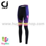 กางเกงจักรยานผู้หญิงขายาว CheJi 15 (05) สีน้ำเงินลาย Rose Kiss