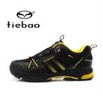 รองเท้าจักรยานเสือภูเขาแบบผ้าใบ TIEBAO รุ่น TB22-B1335 สีดำเหลือง สายสลิงหัวบิดรัดสายออโต้ สั่งจอง (Pre-order)