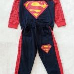 Carter's : Set เสื้อแขนยาว+กางเกงขายาว ลาย Superman สีกรม เนื้อผ้า นิ่ม ไม่หนามาก Size : 1y / 2y / 7y