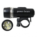 ไฟหน้าจักรยาน Power Beam รุ่น 5LED สีดำ