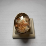 แหวนแก้วปวกเบ็ญจรัตน์ ขนาดเม็ด 2.5*1.8 cm ตัวเรือนทองเหลือง