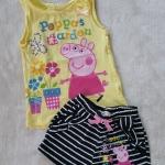 set เสื้อสีเหลือง+กางเกงขาสั้นสีดำ Peppa pig size : 2-4y / 4-6y / 6-8y / 8-10y