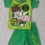 Set เสื้อ+กางเกงขาสั้น Ben10 Going Hero สีเขียว size : 1 ( 1.5-2y) / 3 ( 3-4y)