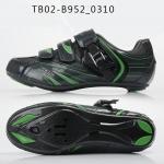 รองเท้าจักรยานเสือหมอบ TIEBAO รุ่น TB02-B952 สีดำเขียว ตัวรัดออโต้