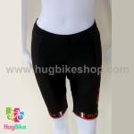 กางเกงจักรยานผู้หญิงขาสั้น ALE 16 (17) สีดำส้ม