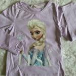 H&M : เสื้อยืดแขนยาว ลาย Elsa (ชนช้อป) สีม่วงอ่อน Size 2-4y
