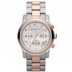 นาฬิกาข้อมือ Michael Kors MK5315 Women's Runway Two Tone Chronograph Watch Size 38 mm