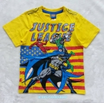 Justice League : เสื้อยืดสกรีนลาย Justice League สีเหลือง (งานช้อป) size 8