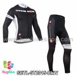 ชุดจักรยานแขนยาวทีม 3T 15 สีดำขาว