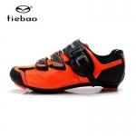 รองเท้าจักรยานเสือหมอบ TIEBAO รุ่น TB36-B1407 สีส้มดำ ตัวรัดออโต้