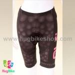 กางเกงจักรยานผู้หญิงขาสั้น ALE 16 (03) สีดำชมพูลายฟองน้ำ