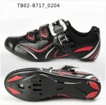 รองเท้าจักรยานเสือหมอบ TIEBAO รุ่น TB02-B717 สีดำ ตัวรัดออโต้