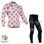 ชุดจักรยานแขนยาว Le tour de france 14 สีขาวแดง