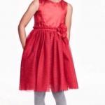 H&M : ชุดเดรสสีแดง รุ่น Sleeveless Dress (งานช้อป) size : 1-2y / 4-6y